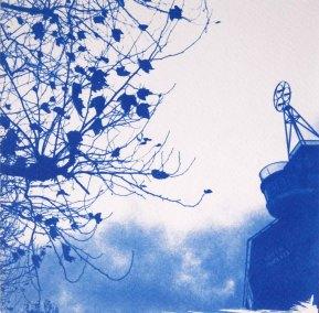 Face à la tamise, Londres, 15x15