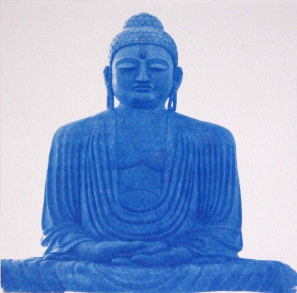 Bouddha bodhgaya, Inde, 15x15